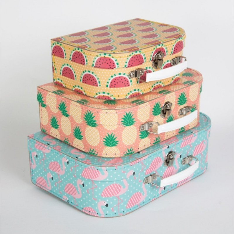 Set de 3 Valisettes Tropical