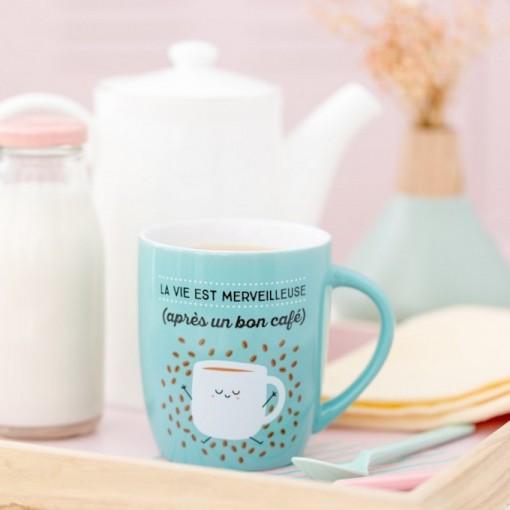 Mug - La vie est Merveilleuse (après une bon café)