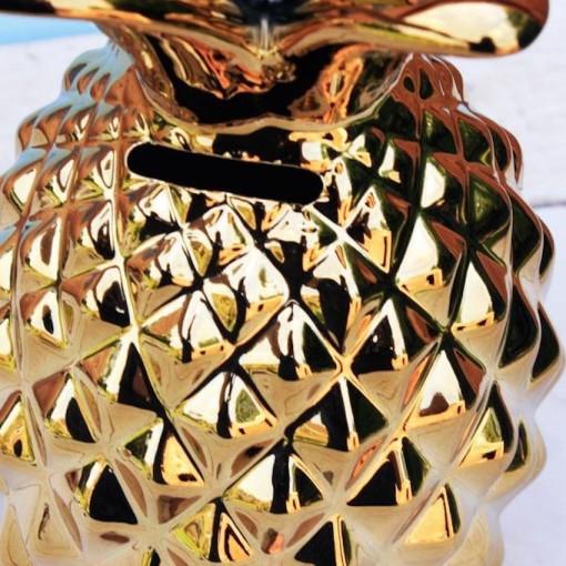 Tirelire Ananas Gold