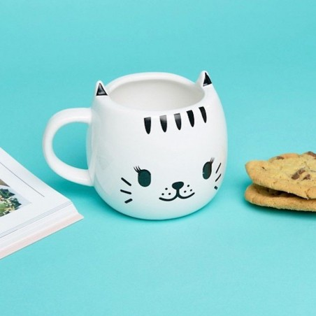 Mug thermoréactif happy cat