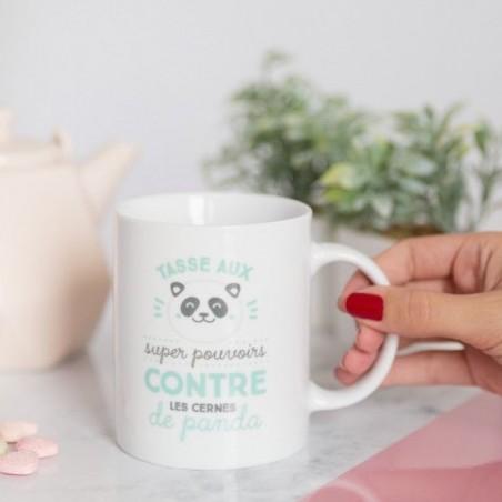 Tasse aux super pouvoirs contre les cernes de panda