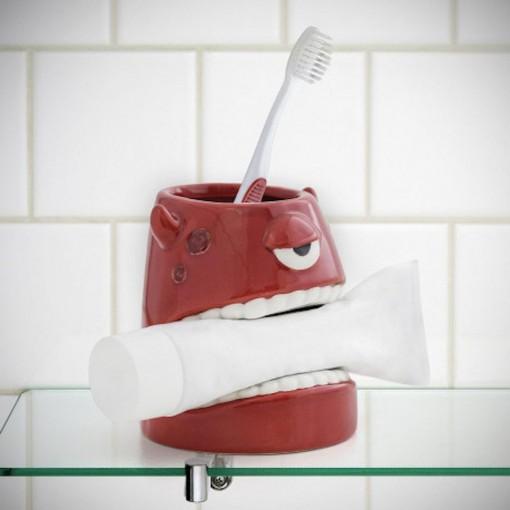Porte-brosse à dent monstre