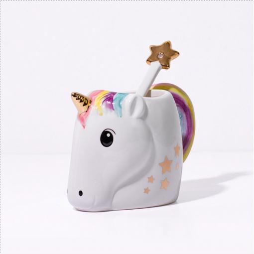 Tasse magique et cuillère licorne