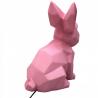 Lampe origami lapin