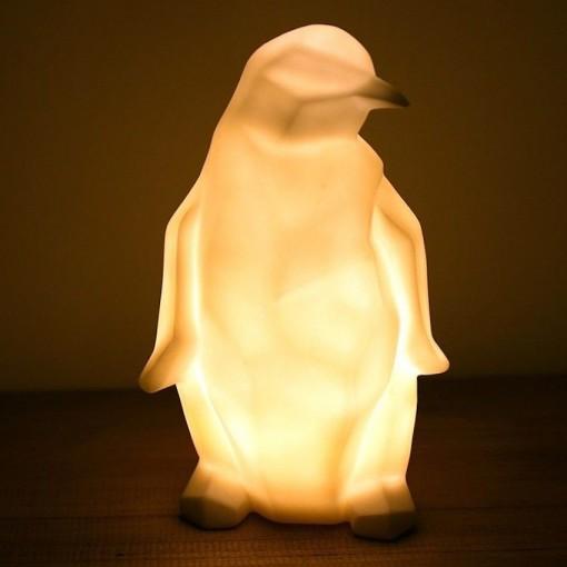 Lampe origami pingouin