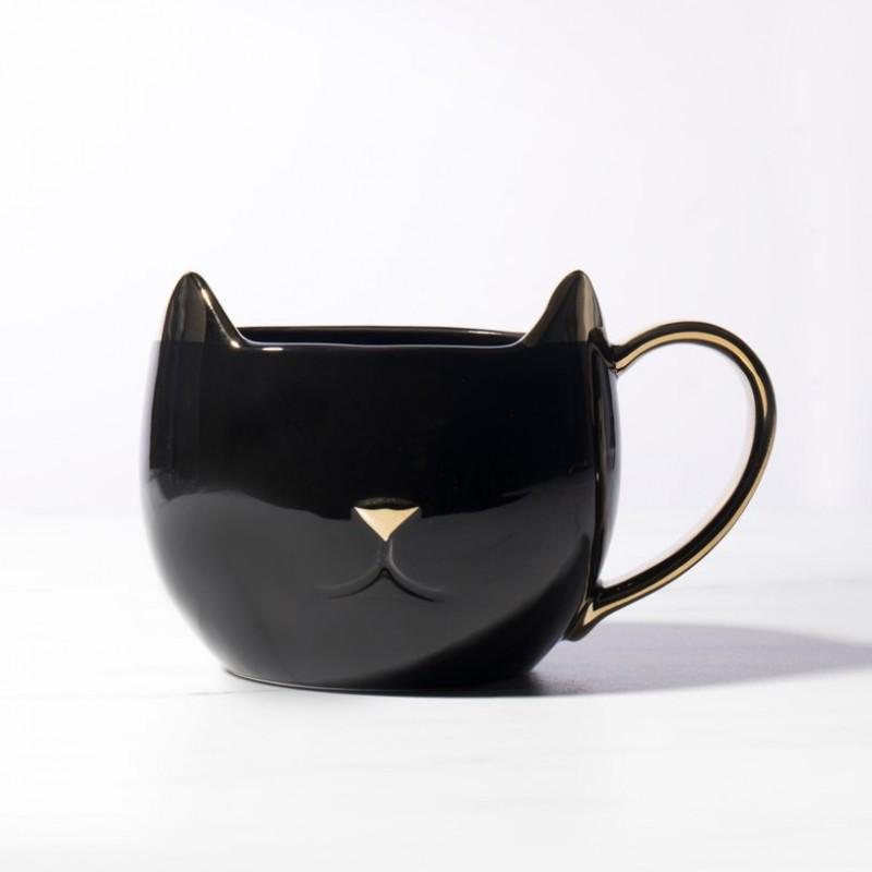 Mug chat doré