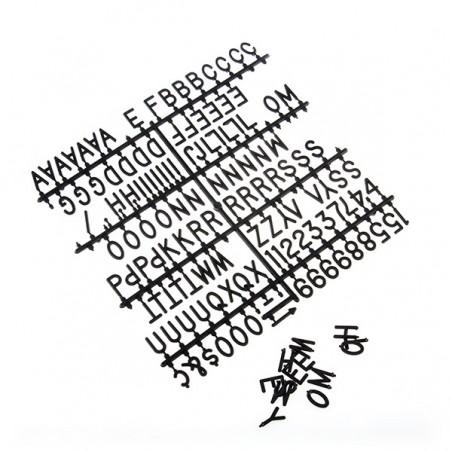 Tableau pour chiffres et lettres - Bananair