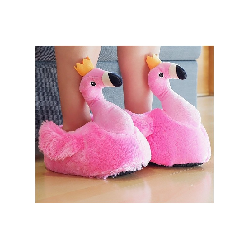 Chaussons flamant rose