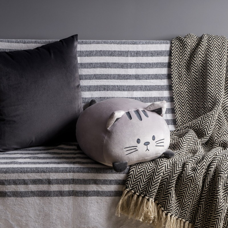 Coussin Kitty gris