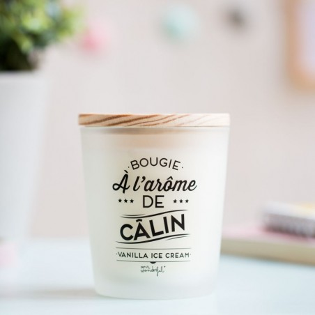 Bougie à l'arome de calin - vanilla ice cream