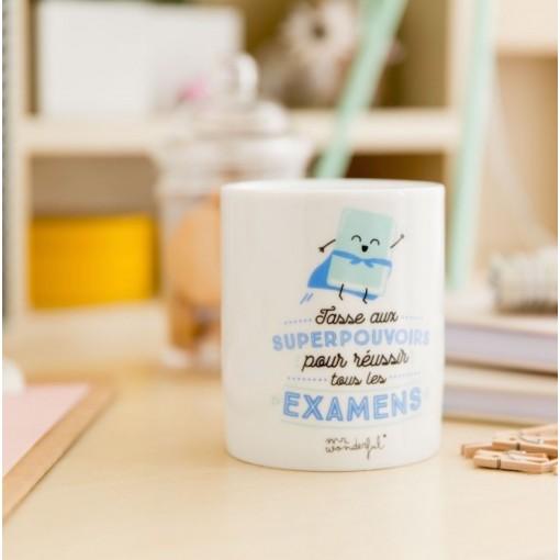 """Mug aux """"Superpouvoirs pour réussir tous les examens"""""""
