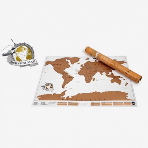 Carte du monde à gratter