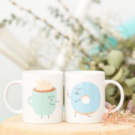 Set de 2 Mugs- Ils furent heureux et ils prirent ensemble tout leurs petits déjeuners