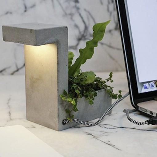 Lampe Bloc ciment